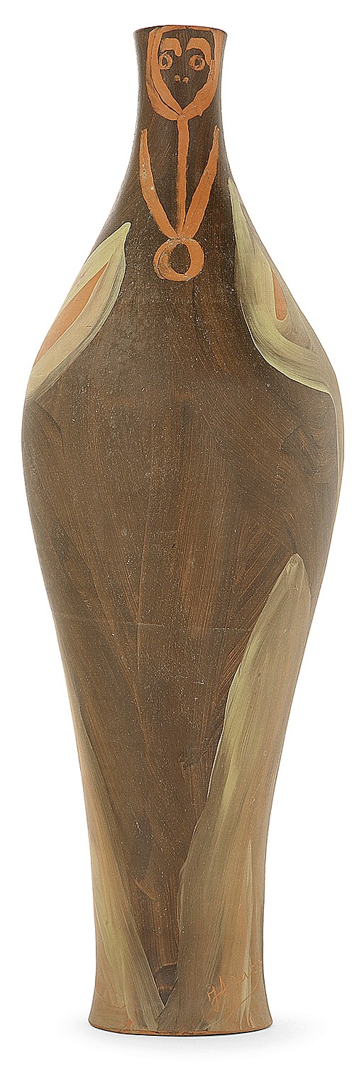 Jules AGARD (1916-2003) An earthenware baluster vase. Carved signature. Height. 17 1/4 in.