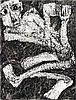 Rosemarie Koczy (1939 - 2007) Homme assis, 1993 Ink on paperSigned and dated