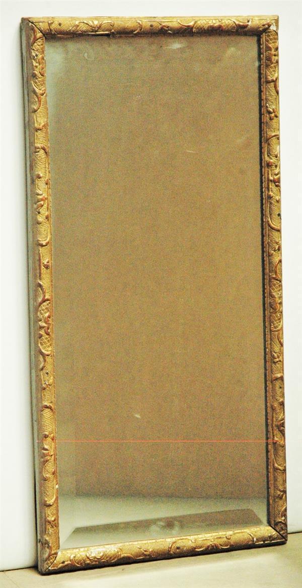 Miroir rectangulaire compos d 39 une baguette en bois dor d for Baguettes bois decoratives