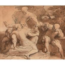 XAVIER SIGALON (1788-1837) ORGIE DE TRUANDS