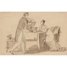 Attribué à Jean Henri MARLET (Autun 1771-Paris 1847)