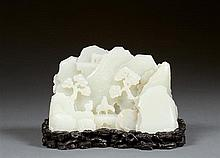 A jade mountain, China, 20th century. H. 3 9/16 in. - L. 6 in.