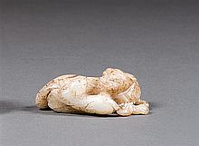 A jade group, China, 20th century. L. 2 9/16 in.