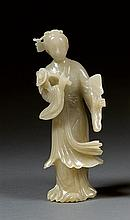 A jade figure, China, 20th century. H. 7 11/16 in.