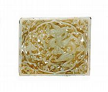 A jade plaque, China, Qing dynasty, late 19th century