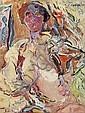 Alkis Pierrakos (né en 1920) Sans titre, 1988 Huile sur toile Signée et datée 88 en haut à droite Contresignée et datée au dos 65 x ..., Alkis Pierrakos, Click for value