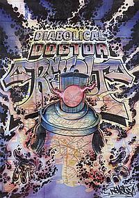 Dr. Revolt Diabolical Doctor Revolt, 2011 Feutre et peinture aérosol sur plan de métro de New York Signé et daté en bas à droite 82,...