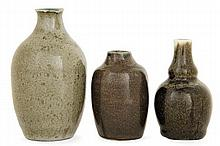 Auguste DELAHERCHE (1857-1940) An ovoid enamelled stoneware vase