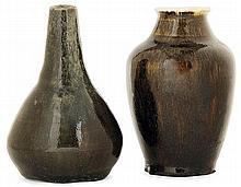 Auguste DELAHERCHE (1857-1940) - A small piroform enamelled stoneware vase
