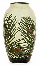 MAX LAUEGER (1864-1952) An ovoid enamelled glazed clay vase
