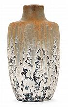 Glatigny - An ovoid drips enamelled stoneware vase