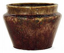 Pierre-Adrien DALPAYRAT (1844-1910) A flared tapered enamelled stoneware vase