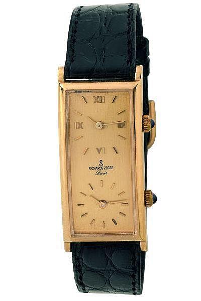 richards zeger dual time montre bracelet pour homme en m ta. Black Bedroom Furniture Sets. Home Design Ideas