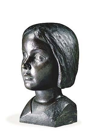 LOUIS DEJEAN (1872-1953) TÊTE D'ENFANT Épreuve en