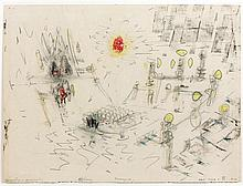 ƒRoberto Matta (1911-2002) Oeficiency, 1951 Pastel and graphite on paper Indistinctly inscribed, titled and numbered ANJ 2150...