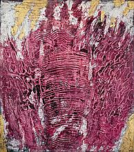 Horia Damian (1922-2012) Cosmogonie, 1960 Acrylic and resin on panel  Signed and dated 60 lower right 67 3/4 x 60 1/4 in