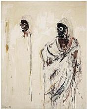 Philippe Pasqua (né en 1965) Sans titre, 1996 Mixed media on canvas Signed and dated lower left Signed and dated on the reverse 63 3...