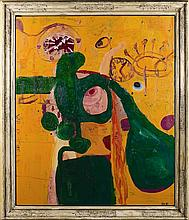 ƒAnton Henning (Né en 1964) Sans titre (We do it at 1:30 and around 8:00), 1991 Oil on canvas Signed with the artist's initials and ...