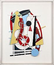 Jan Voss (né en 1936) Sans titre, 2006 Painted wood on panel Signed and dated 06 middle right 38 5/8 x 32 5/8 in