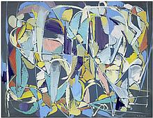 André Lanskoy (1902-1976) Sans titre Gouache on paper Signed lower right 19 1/4 x 25 1/4 in