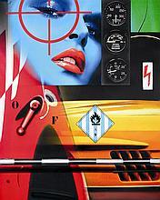 Peter Klasen (né en 1935) Rendez-vous dangereux A/9, 2008 Inkjet print on canvas Signed, titled and dated on the reverse 63 3/4 x 51...