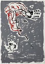 Sandro Chia (né en 1946) Sans titre, 2003 Oil on canvas Signed in the middle Dedicated on the reverse 27 1/2 x 19 5/8 in