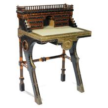 View carlo bugatti art prices and auction results - Petit bureau bois ...