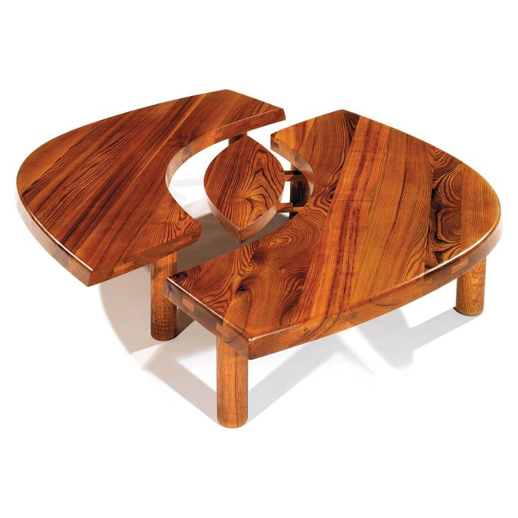PIERRE CHAPO (1927-1986)Table basse ovale