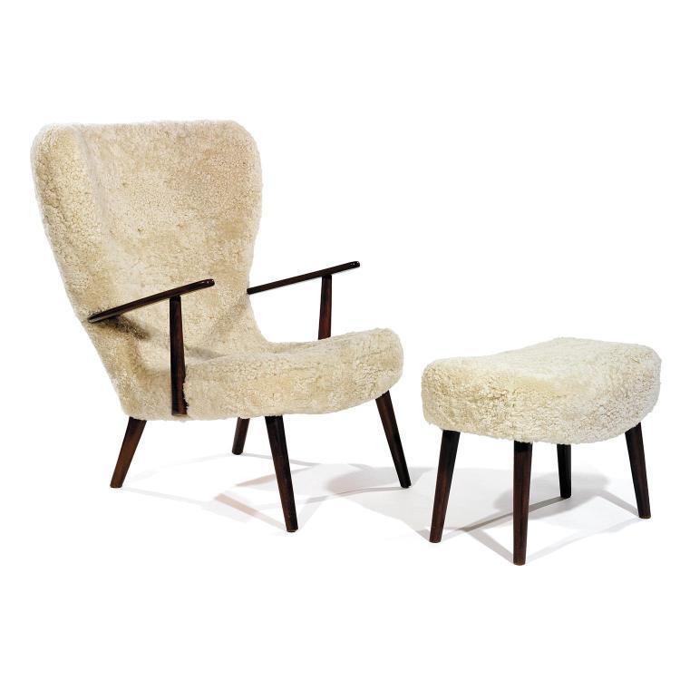 IB MADSEN (NÉ EN 1942) & ACTON SCHUBELL (XXe)Grand fauteuil
