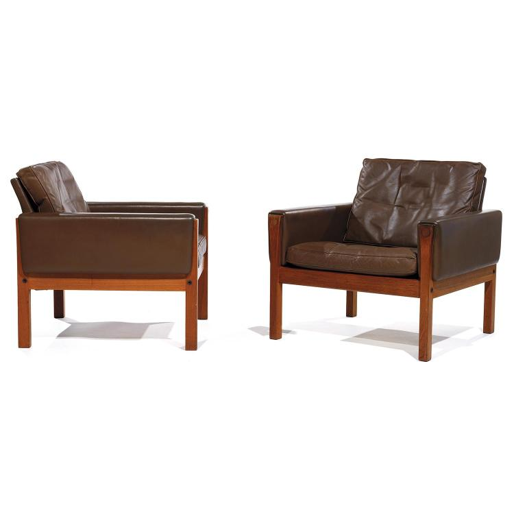 HANS J. WEGNER (1914-2007) & AP-STOLEN (ÉDITEUR) Paire de fauteuils