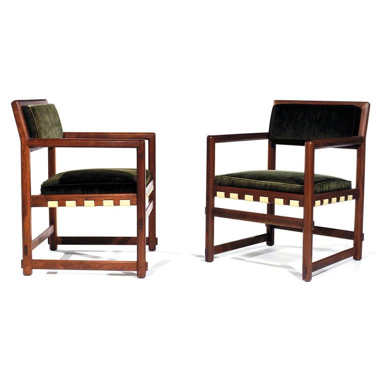 EDWARD WORMLEY (1907-1995) & DUNBAR (ÉDITEUR)Paire de fauteuils