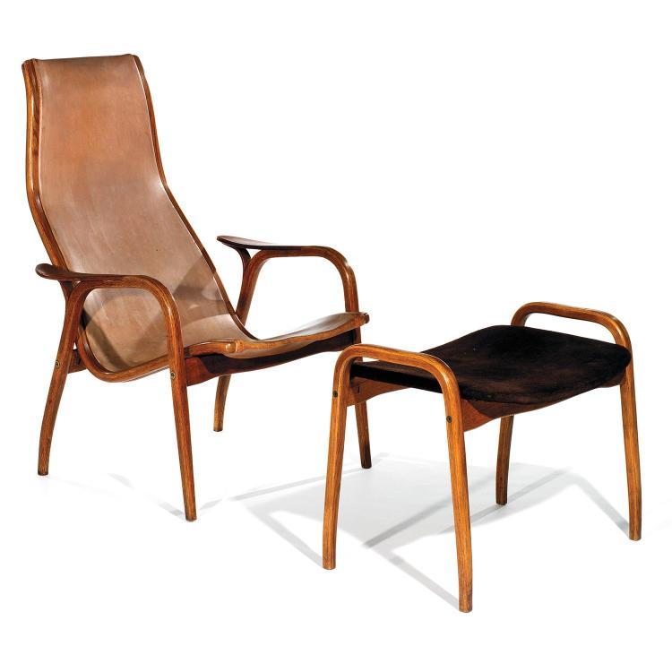 YNGVE EKSTRÖM (1913-1988) & SWEDESE MÖBLER (ÉDITEUR)Grand fauteuil