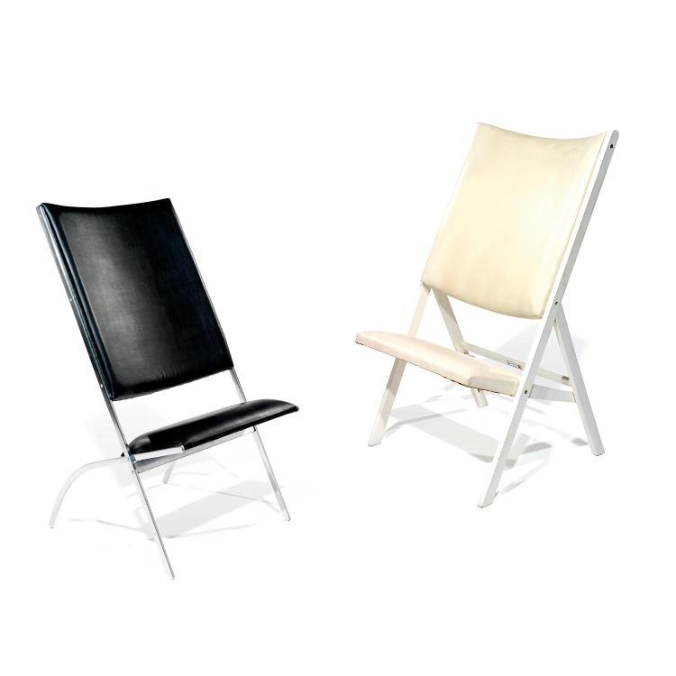 GIO PONTI (1891-1979) & PALLUCCO (ÉDITEUR)Suite de deux chaises