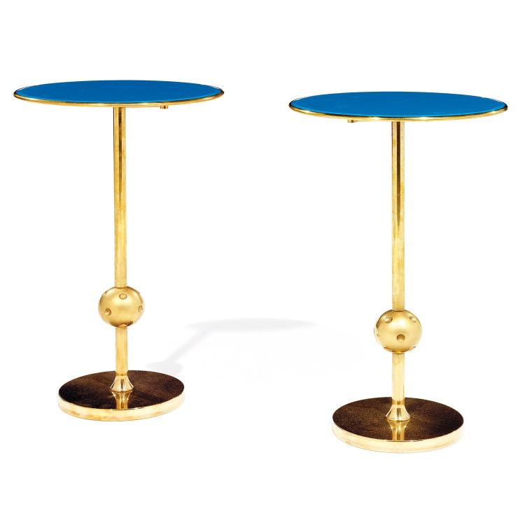 OSVALDO BORSANI (1911-1985) Paire de tables d''appoint