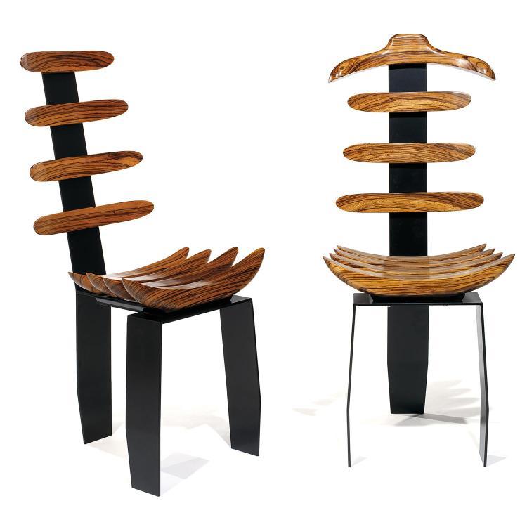 CLAUDE NICOLET (NÉ EN 1954)Paire de chaises,