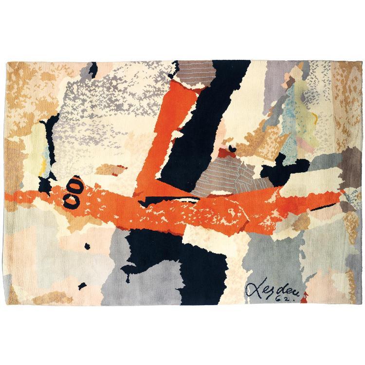 ERNEST VAN LEYDEN (1892-1969) & FRANCE TAPIS (ÉDITEUR) Tapis rectangulaire