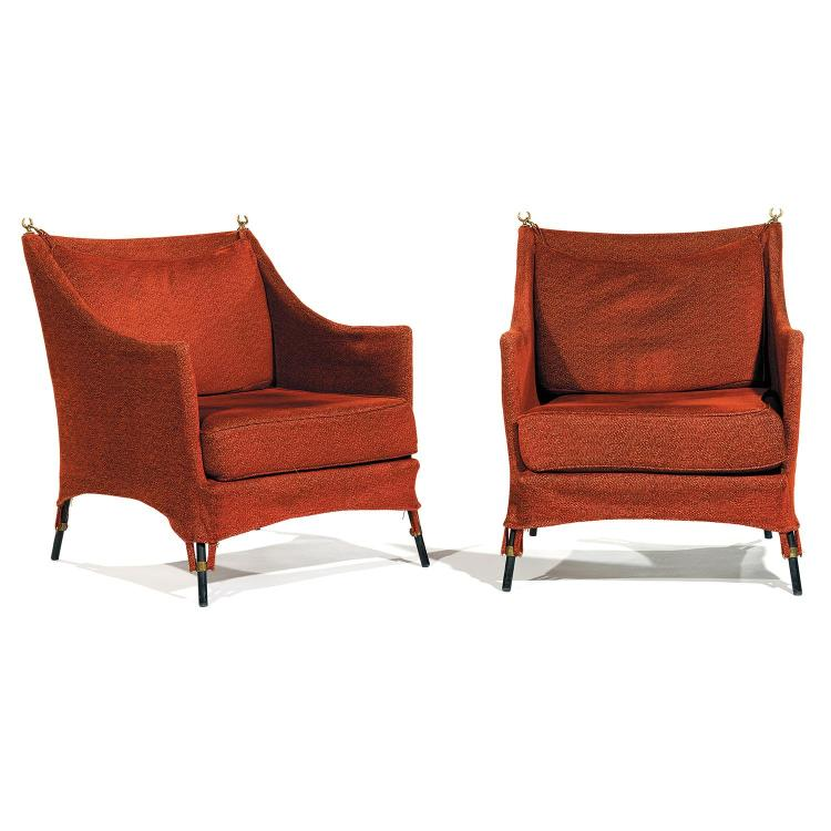 1BG - ÉLIZABETH GAROUSTE (NÉE EN 1949) & MATTIA BONETTI (NÉ EN 1952) Paire de grands fauteuils