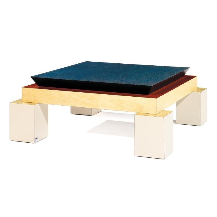 Ettore sottsass 1917 2007 table basse pi tement quadripode - Table basse laquee beige ...