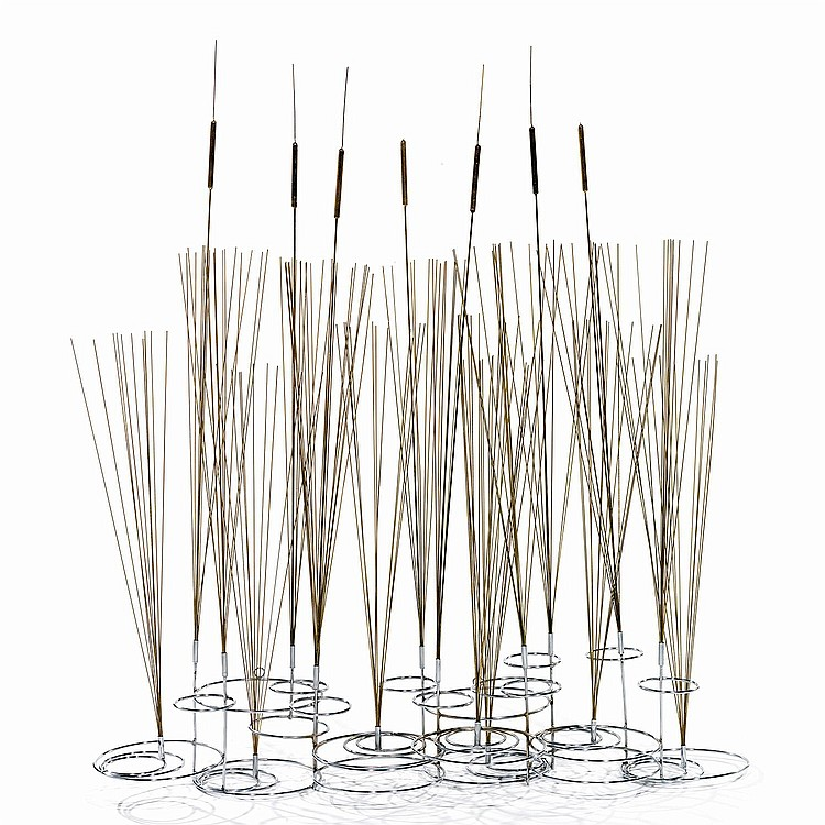 CURTIS JERE - JERRY FELS (1919-2007) & CURTIS FREILER (NÉ EN 1910) Centre de table pouvant former sculpture d'applique, présentant...