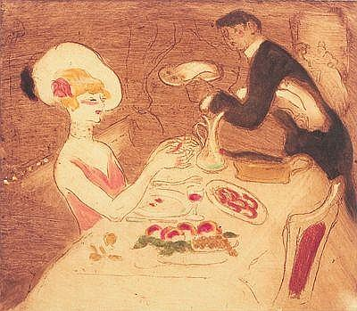 GEORGES BOTTINI La Soupeuse. 1903