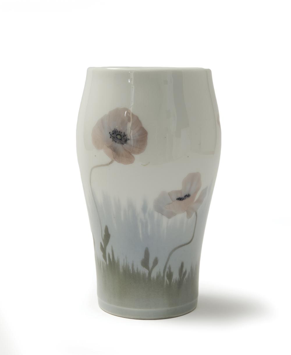 royal copenhague vase cylindrique renfl en porcelaine mot. Black Bedroom Furniture Sets. Home Design Ideas