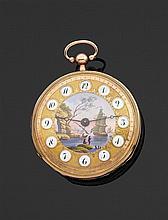 DE BELLE à Paris VERS 1800 Montre de poche en or rose