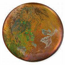 CLÉMENT MASSIER (1844-1917) An earthenware dish