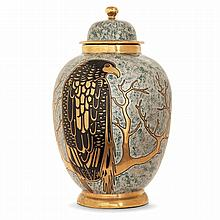 MONTIÈRES & GUY ARNOUX (DESSINATEUR) An earthenware covered vase