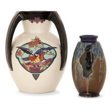 MONTIÈRES Two earthenware vases:- c