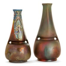 MONTIÈRES A set of two earthenware vases