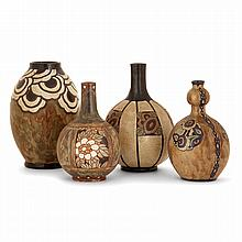 CHARLES CATTEAU (1880-1966) & KÉRAMIS (MANUFACTURE) A set of four stoneware vases