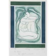 FRANÇOISE GILOT (Née en 1921) SPRING Aquatinte sur vélin Signée, titrée et annotée A