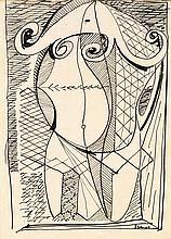ARPAD SZENES (1897-1985) Arlequin Encre sur papier Signée en bas à droite 24,5 x 18cm
