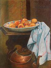 Georges-Daniel DE MONFREID (1856-1929) Nature morte Pastel sur papier Dédicacé